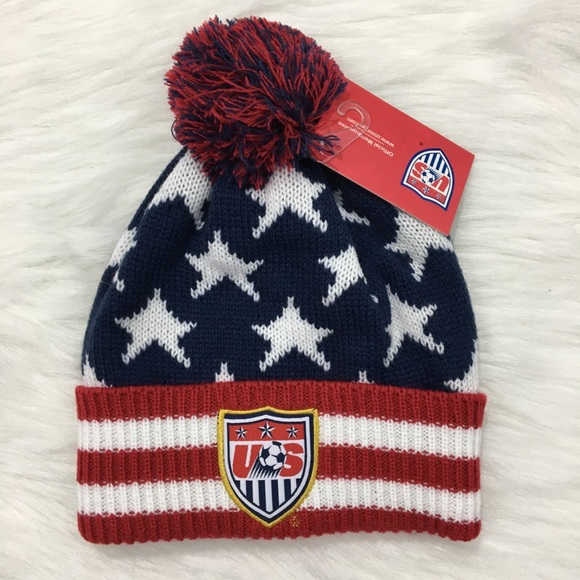 75392ba37d0 ... buy team usa soccer american flag beanie hat nwt 114e1 fd3fd